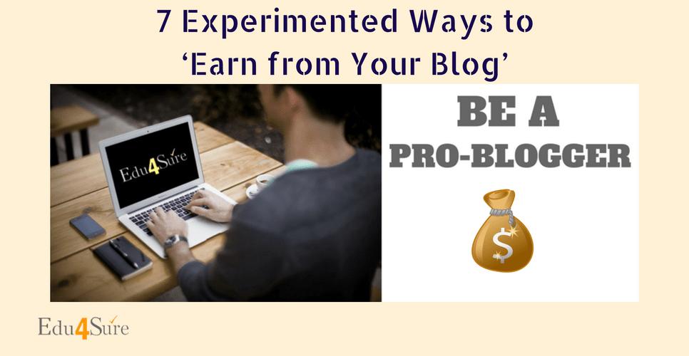 how-earn-money-from blog-Edu4Sure