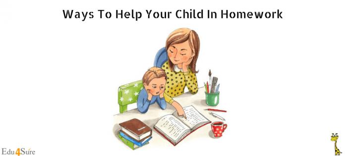 Ways To Help Your Child In Homework