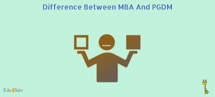 Difference-Between-MBA-And-PGDM